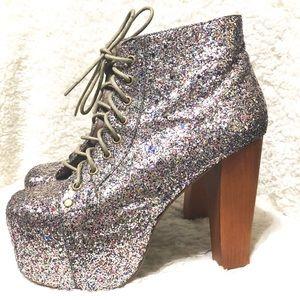 Jeffrey Campbell Multi Glitter Lita Boots